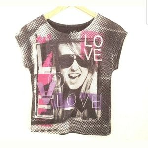 Justice Sparkle Love Shirt